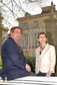 Éric et Laure d'Aramon, les propriétaires du château Figeac.