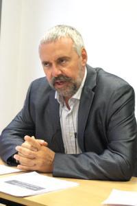 Boris Calmette, président de la coopération viticole.