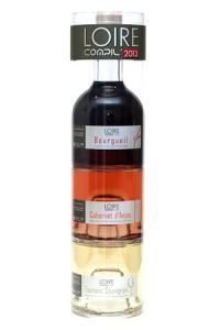 La Loire Compil' est un assemblage de trois bouteilles de 25 cl formant une bouteille de 75 cl.