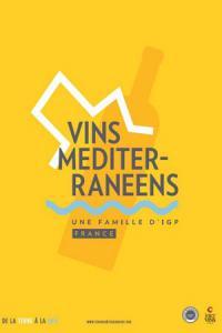 Le logo des Vins Méditerranéens veut donner une image solaire et décalée.