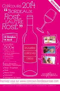 L'affiche du concours « Bordeaux rosé, l'autre rosé ».