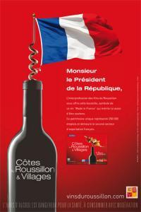 Le Roussillon offre du vin « Made in France » à l'Élysée.