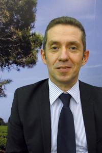 Jérôme Despey, président du conseil spécialisé de FranceAgriMer au Salon de l'agricutlure, à Paris, le 27février2012. ©A.AUTEXIER