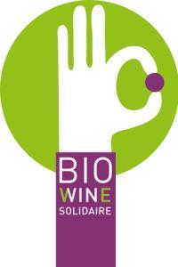 Le logo de la charte Bio wine solidaire.