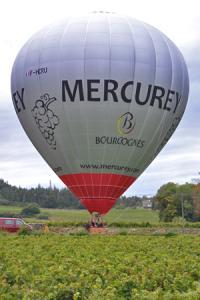 Deux viticulteurs, pilotes chevronnés, dirigeront la montgolfière. © C. MICHELIN