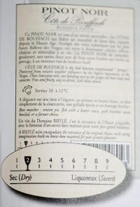 Certains metteurs en marché, comme ici le domaine Rieflé, utilisent déjà un système de réglette. © C. FAIMALI