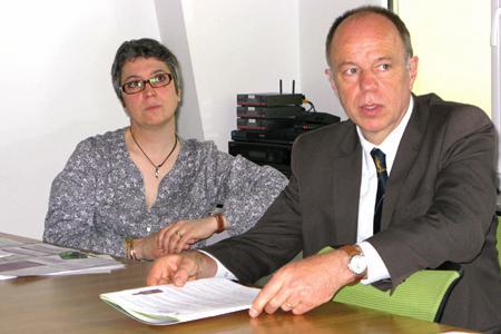 Noëlle Guillerault, directrice déléguée d'Adelphe et Dominique Simon, directeur général d'Adelphe. © A. AUTEXIER