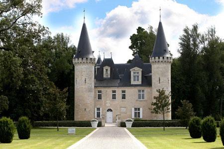 Situé à Ludon-Médoc, le château d'Agassac est dans le giron de Groupama. © MAPPP