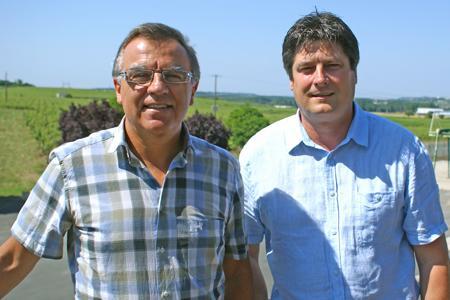 François Boche et Marc Bonnin, de la coopérative de Saumur. ©P.TOUCHAIS