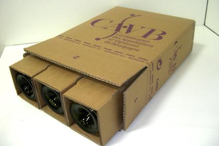 Les cartons de la CAVB ont été validés par La Poste qui a procédé à des tests de résistance. © G. BARRIOZ