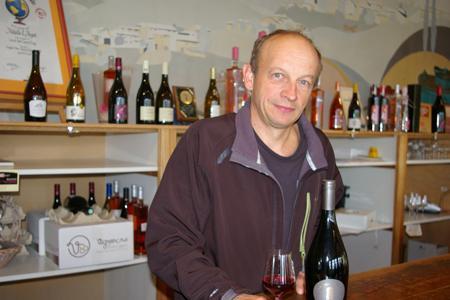 Christian Alix, président de la cave des Vignerons des Pierres dorées, dans le Beaujolais. ©D.B.