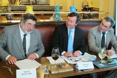 De gauche à droite: Michel Bernard, Christian Paly et Bernard Angelras. © A. AUTEXIER