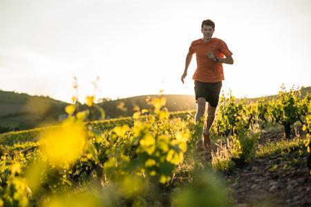 François D'Haene, viticulteur à Saint-Julien, dans le Rhône, vient de remporter l'ultra-trail de la Réunion, et ce malgré des entraînements perturbés par des vendanges tardives. ©WWW.DROZPHOTO.COM