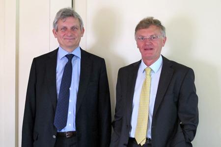 Frank Garnier (à gauche), le président de l'UIPP, et Jean-Charles Bocquet, le directeur général de l'UIPP. © M. COISNE