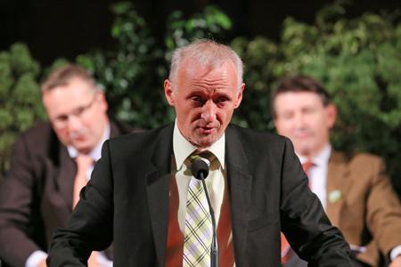 Jean-Michel Aubinel, président de la CAVB, la fédération des ODG de Bourgogne. © Tardivon/MaxPPP