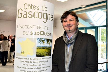Jean-Pierre Drieux, le président du syndicat des côte de Gascogne. © F. JACQUEMOUD