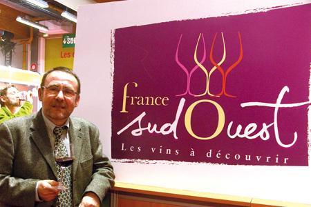 Michel Defrancès, président de l'Interprofession des vins du Sud-Ouest (IVSO) et coordonnateur de la filière viticole pour la bannière interrégionale Sud-Ouest. © F. JACQUEMOUD