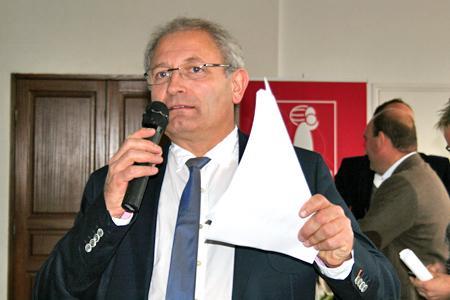 Michel Loriot, président de la fédération régionale des Vignerons indépendants de Champagne. © A. LUTUN