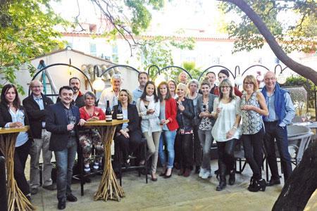 La Crocoteam des supporteurs des Costières de Nîmes réunie par le syndicat de l'appellation. ©M.TRÉVOUX