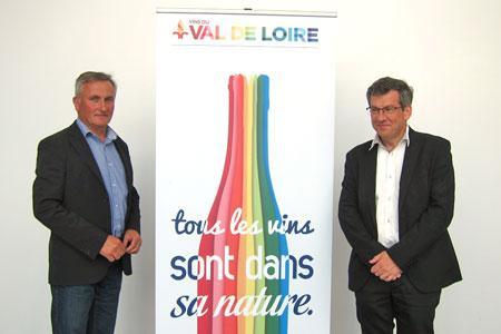 Gérard Vinet (à gauche), président d'Interloire, et Bernard Jacob, premier vice-président d'Interloire. © M.IVALDI