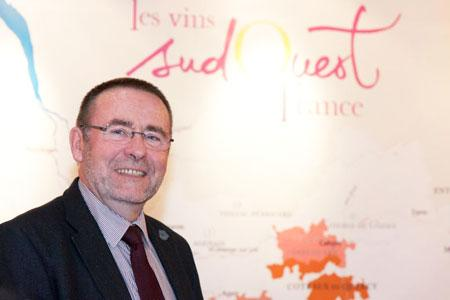 Michel Defrancès, coprésident de l'interprofession des vins du Sud-Ouest. ©P.POUPART