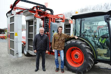 Raymond Noguès, président de laSAS Darnaude (àgauche) àEauze, et Armin Grassa (àdroite), copropriétaire duDomaine duTariquet.