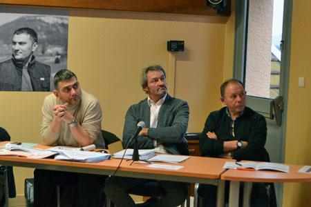 De gauche à droite: Xavier Migeot (directeur), MichelBarraud (président) et RobertPerrin (vice-président). ©C.MICHELIN