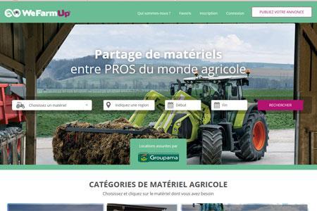 WeFarmUp.com, lepremier site departage dematériels agricoles. ©WEFARMUP