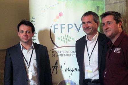 De gauche à droite: David Amblevert, leprésident, Patrice Gentié, lesecrétaire général, et Giovanni Varelli, letrésorier de la FFPV.