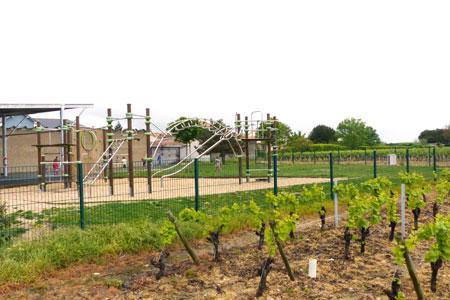 Certaines écoles sont très près des vignes comme ici en Loire-Atlantique. La communication entre les enseignants, les parents et les vignerons est alors cruciale. ©M. CAILLON