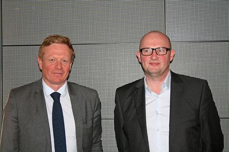 Jean-Pierre Dargent (à gauche) et Franck Hagard, coprésidents du syndicat des courtiers de Champagne. ©A.LUTUN