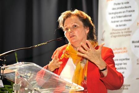 Elisabeth Mercier, directrice de l'Agence bio. © F. CHARAFFI ARCHIVE
