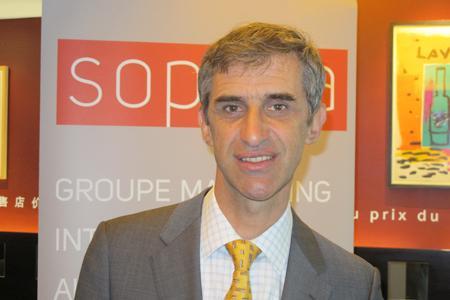 François Collache, responsable Vins et spiritueux de la Sopexa à la conférence de presse du Wine trade Monitor.© A. AUTEXIER