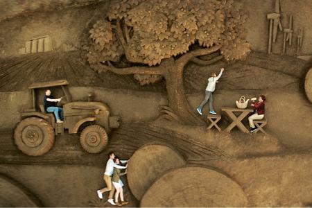 Visuel de la publicité de la coopération agricole.
