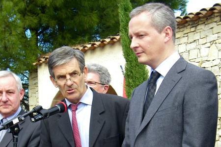Bruno Le Maire en Languedoc : 90% des aides à la restructuration seront payées en avril