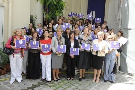 """Les premières signataires du manifeste """"Le vin, et si on en prenait toute la mesure"""". © REA"""