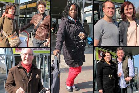 Clément Monier et sa maman, Emma Épimbedi, François et Chloé, Jean-Pierre Bourget et Catherine et Pascal ont accepté de participer à notre micro-trottoir. © B. COLLARD