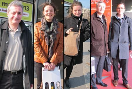 Laurent Chalas, Auriane Binet, Olga Stanova, Pascal Bouguet et Damien Vaille-Brunet. © B. COLLARD