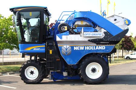 New Holland a obtenu une médaille d'or au palmarès de l'innovation du Sitévi 2013 pour son système Opti-Grape de tri sur machine à vendanger.