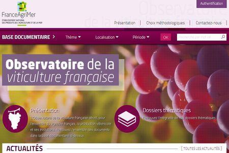 Le nouveau site de l'Observatoire de la viticulture est en ligne.