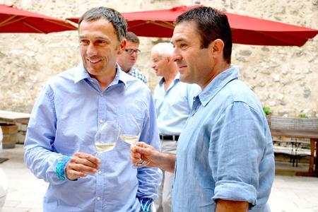 Philippe Pellaton, président du Syndicat général des vignerons des côtes du Rhône et Thierry Usseglio, président de l'ODG Châteauneuf-du-Pape.