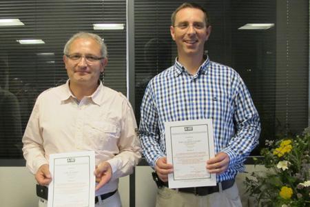 Michel Loriot et Jean-Pierre Vazard sont les troisième et quatrième viticuleurs français à avoir reçu la certification HVE. © C. STEF