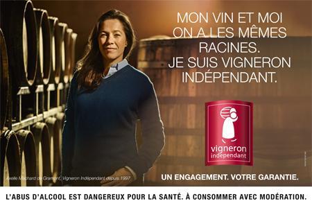 Axelle Machard de Gramont, qui adhère aux Vignerons indépendants depuis 1997, a posé pour la campagne de l'organisation professionnelle.