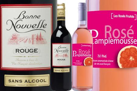 """La gamme de vin sans alcool """"Bonne nouvelle"""", ainsi que les rosés fruités d'Uccoar contiennent de la stévia."""