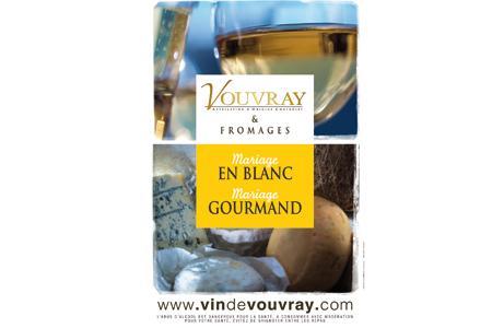 L'affiche de la campagne Vouvray et fromages sera présente chez 92 fromagers en France.