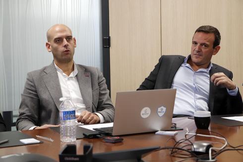 Antoine Poupart, directeur général, et Florian Dupuy, directeur opérationnel de Bioline Insurance. © R. FOURREAUX