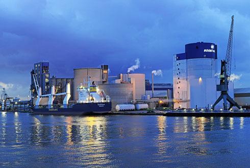Avec dix malteries en Europe qui tournent à pleine capacité, Boortmalt produit actuellement 1,1million de tonnes de malt. Cette capacité va augmenter de 170000t, avec le projet d'Anvers (photo) et celui en Ethiopie.
