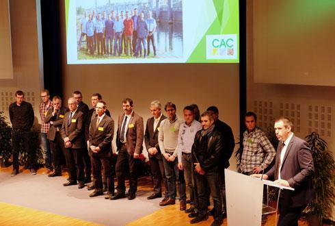 Jean-Michel Habig, président (à dr.), et les membres du conseil d'administration veulent donner de nouvelles ambitions à la Cac. © C.REIBEL