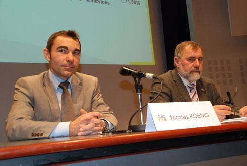 Dans l'attente du successeur de Nicolas Koenig, l'intérim est assuré par Thomas Thuet (à droite), président de la Cac. © C.REIBEL