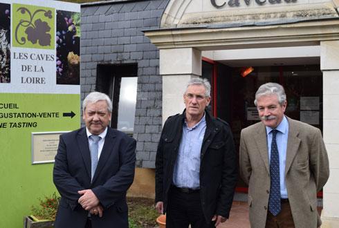 Jean-Michel Mignot, directeur général de la CAPL (à g.), Michel Legeay, président, et Patrick Brémaud, DG adjoint, lors de la conférence de presse du 5décembre. © A.MABIRE
